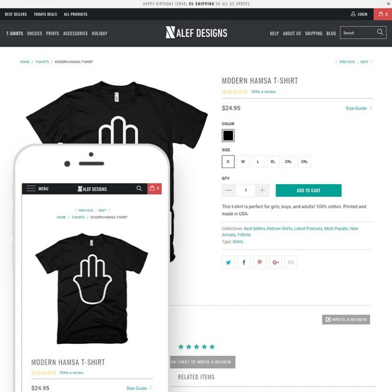 Shopify eCommerce case study for Alef Designs Newport Beach, CA