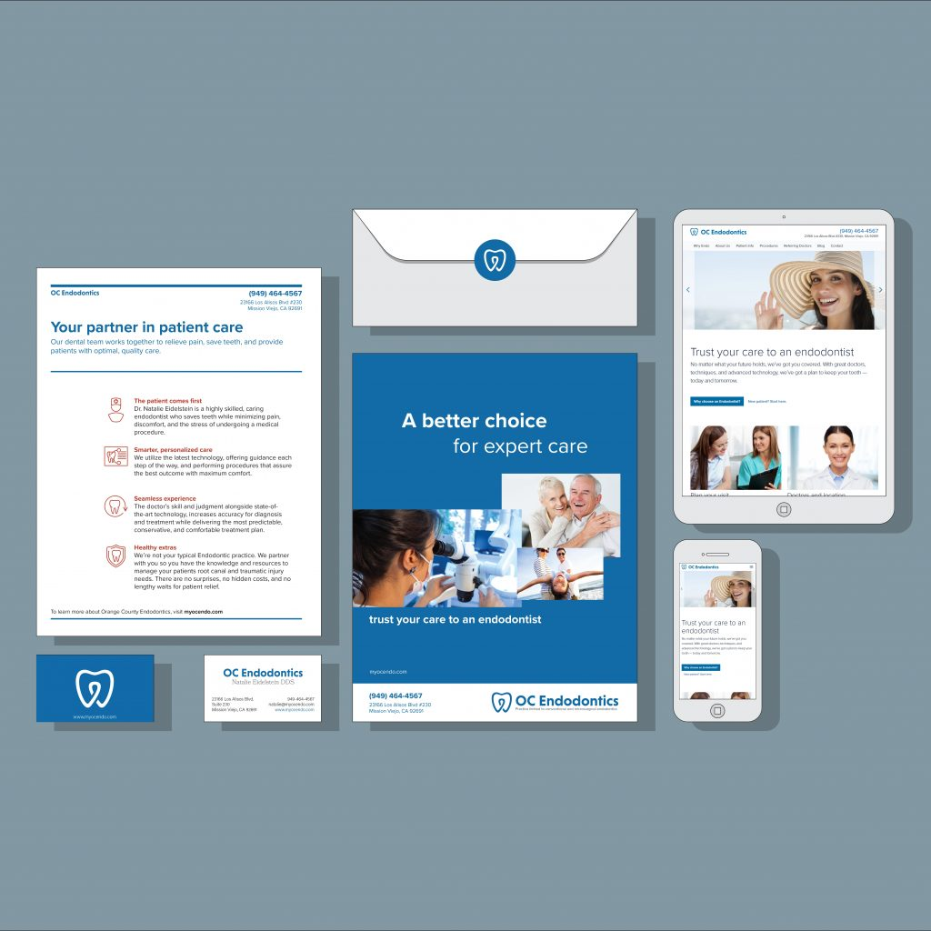 Orange County dentist office website design and marketing case study for Orange County Endodontics