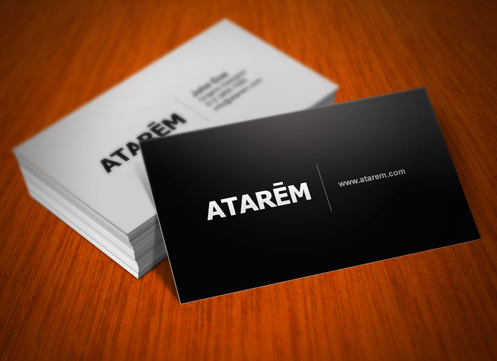 Black and white business card magichat design for Black and white business card design