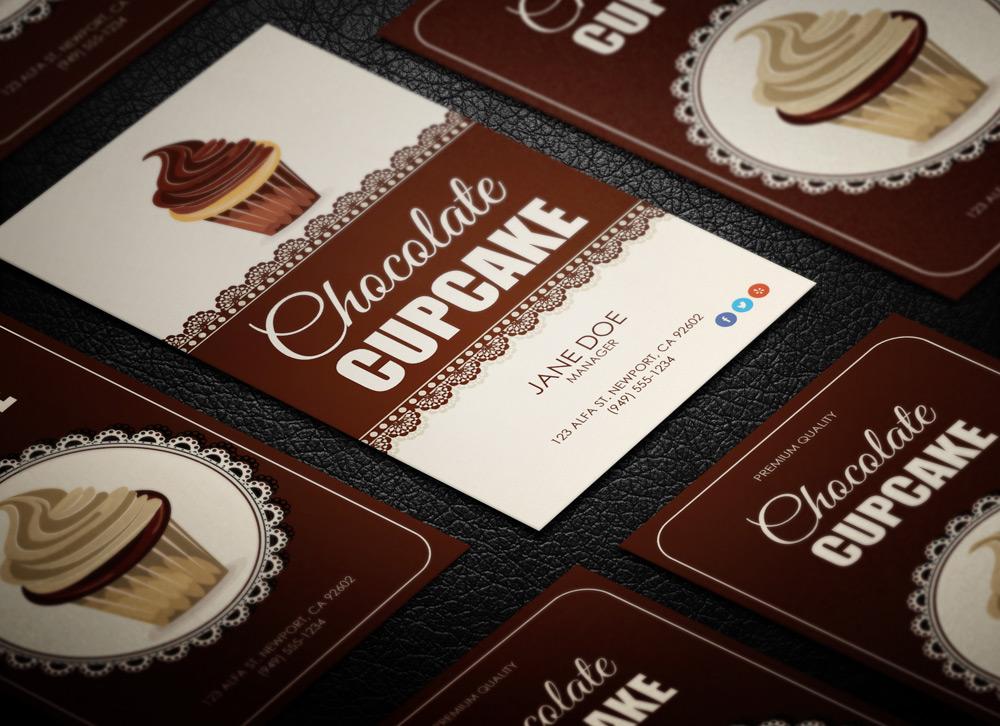 Cupcake Shop Business Card - MagicHat Design