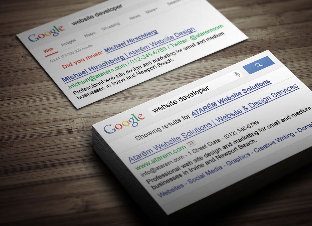 Google search business card magichat design for Google business card templates