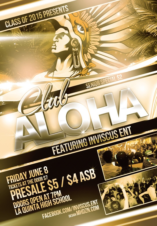 La Quinta High School party Flyer Design