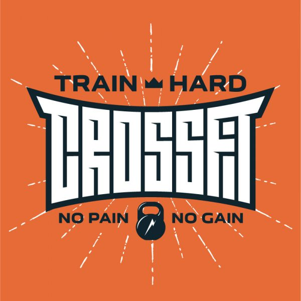 Train Hard Crossfit Gym Logo