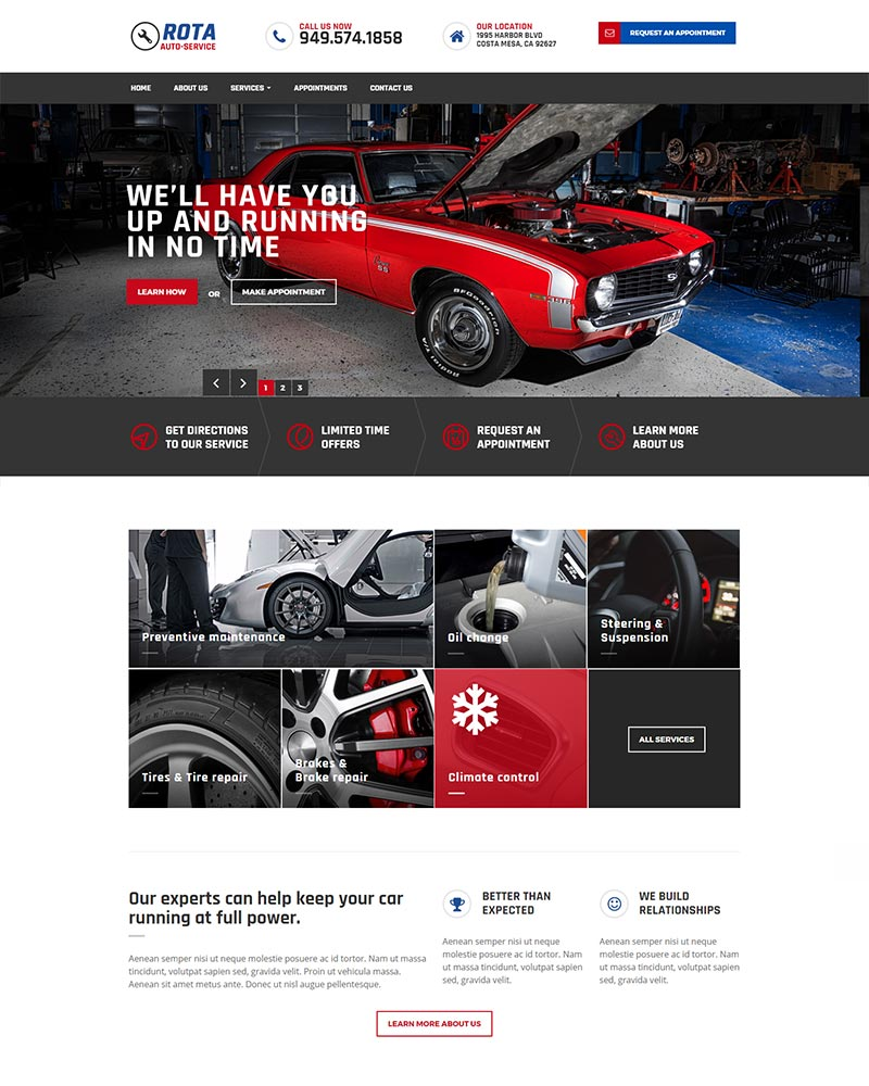 Irvine Car Mechanic Web Design