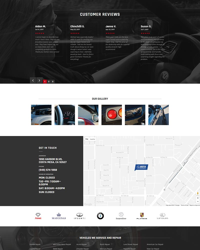 Orange County Mechanic Website Development portfolio