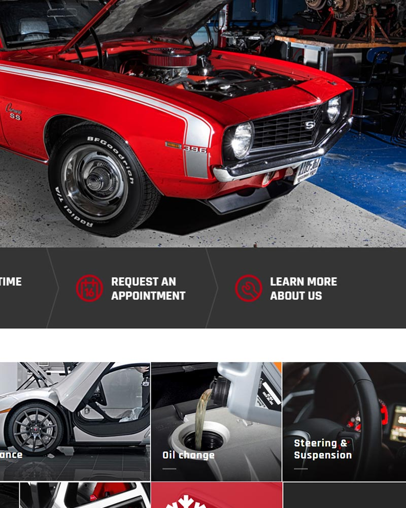 High Quality preview car shop web design in Orange County