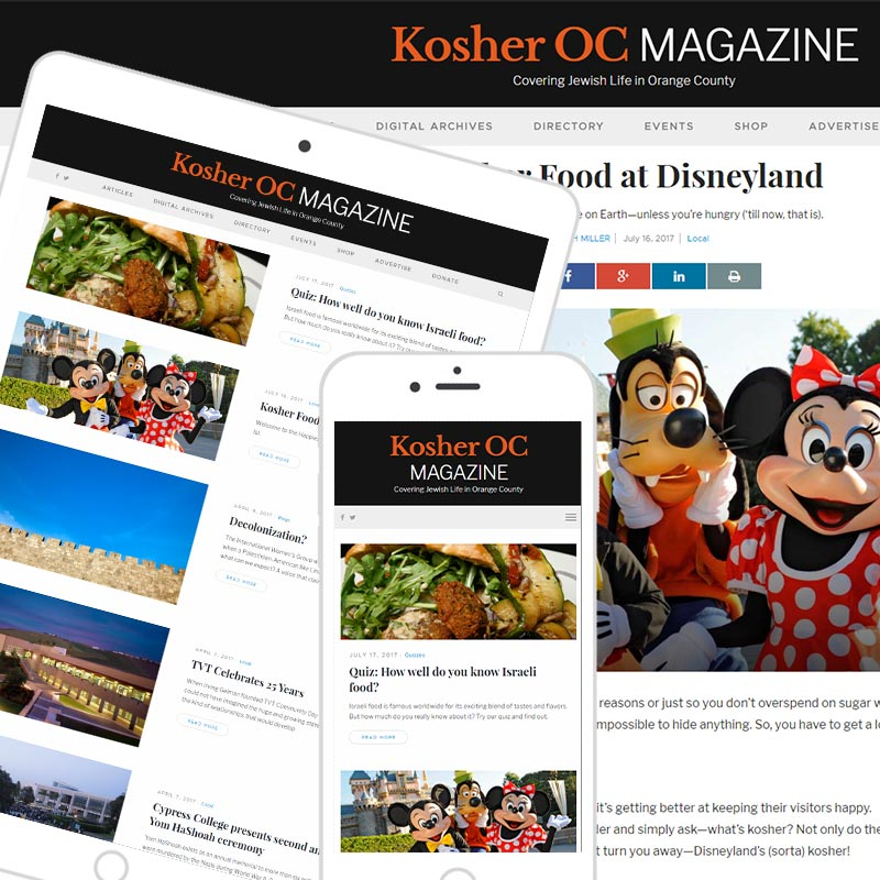 Orange County Magazine Website example