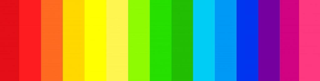 Web design color spectrum symbolism
