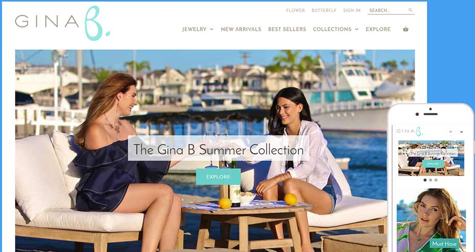 Responsive Orange County Corona del Mar Shopify eCommerce Web Design