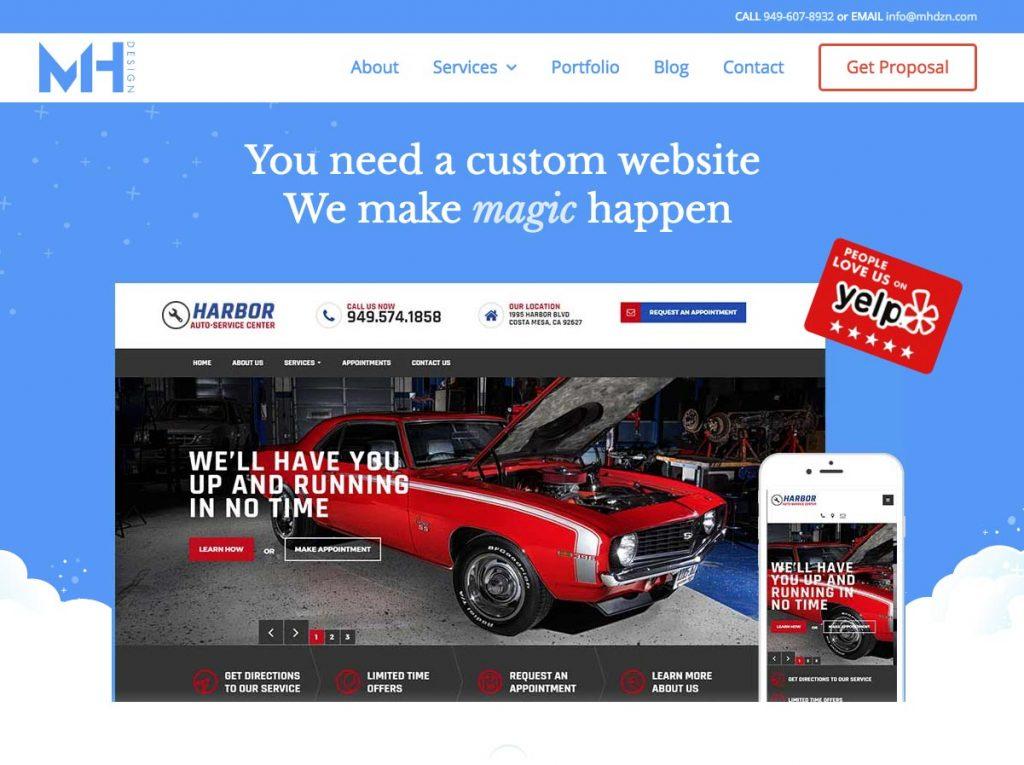Orange County web design user experience