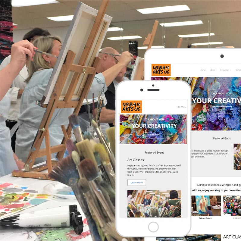 Newport Beach Orange County Web Design for art studio portfolio preview