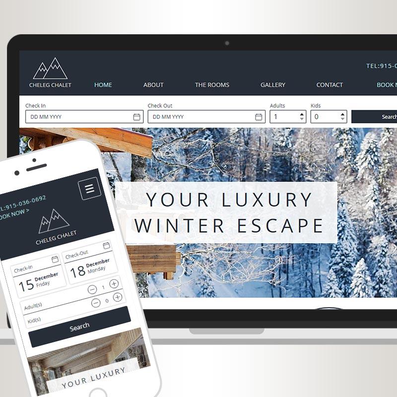 Sheleg Chalet Bed and Breakfast mobile responsive website design