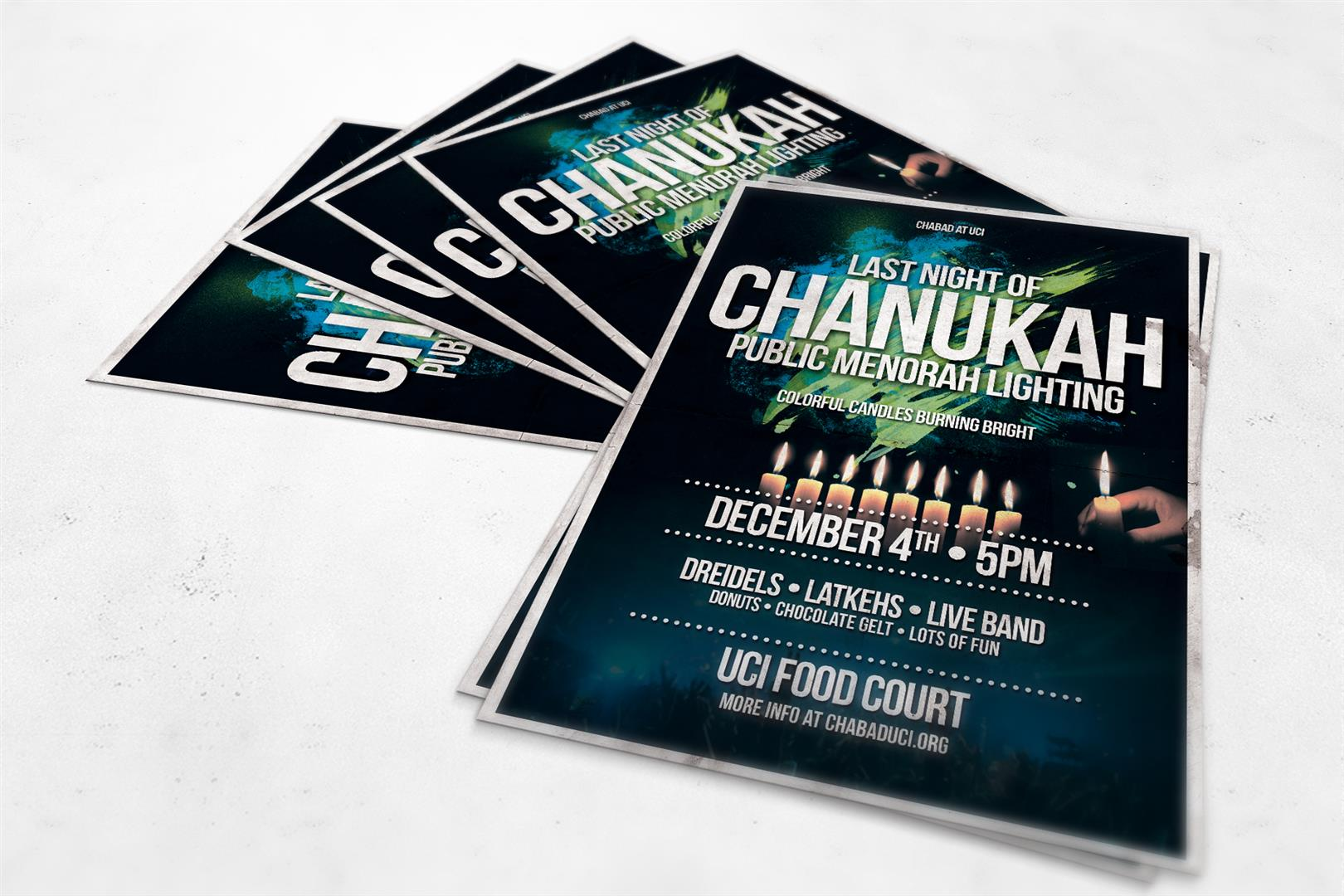 Chabad Chanukah Event Flyer