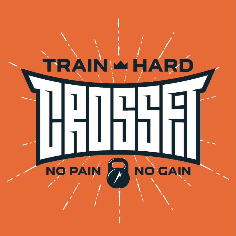 Train Hard Crossfit Gym Logo