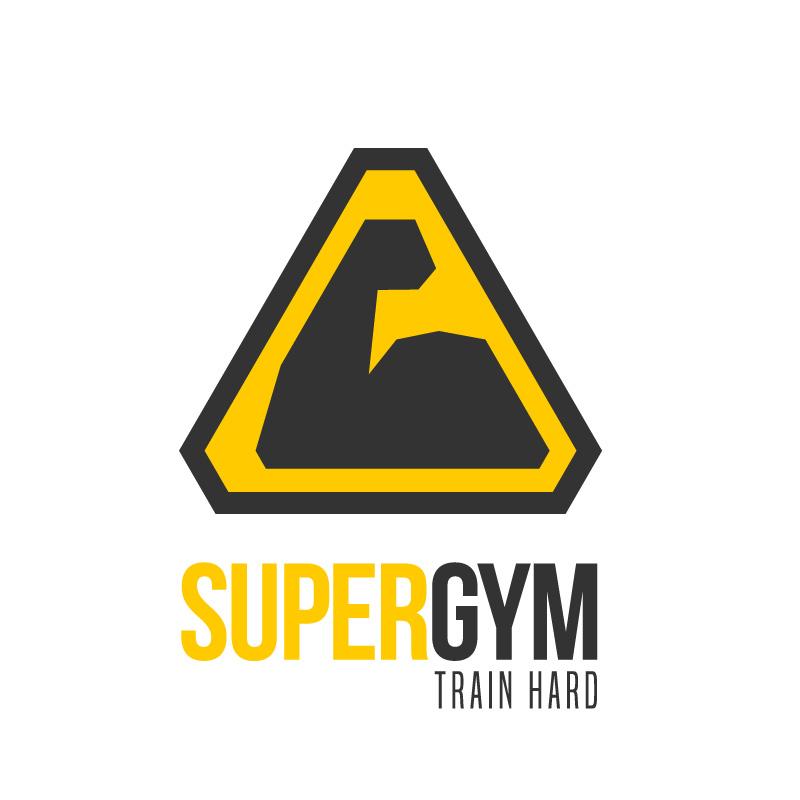 Super Gym Train Hard Logo