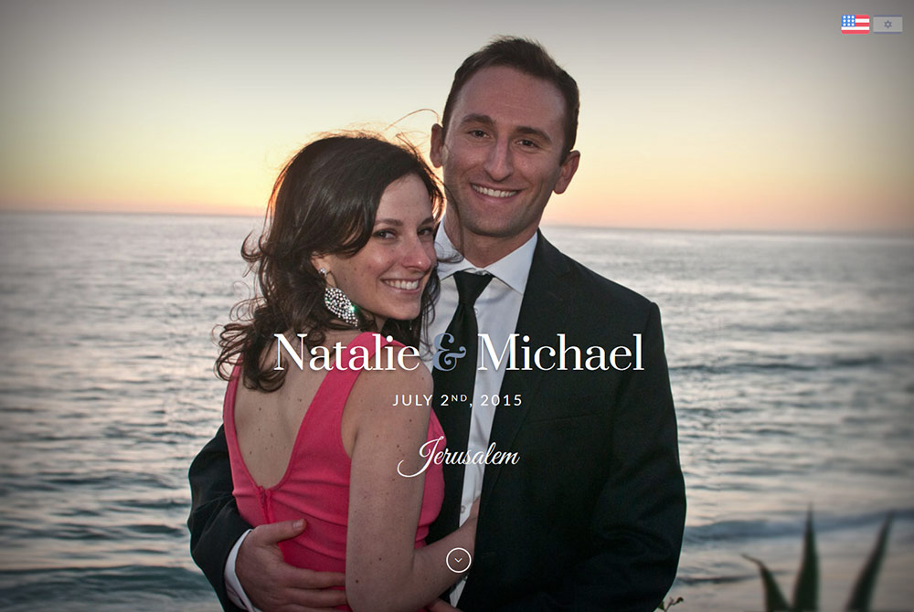 Local Irvine Wedding Website design