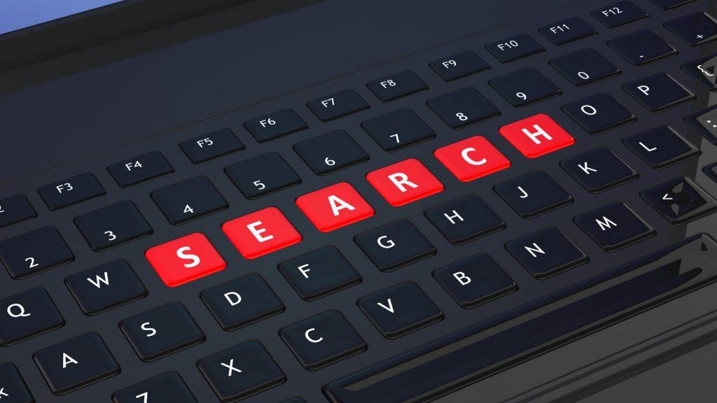 SEO vs SEM search keyboard