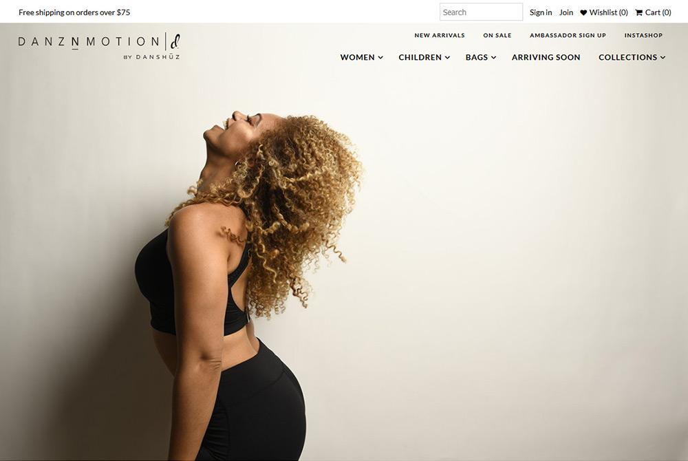 Shopify ecommerce website dance studio web development