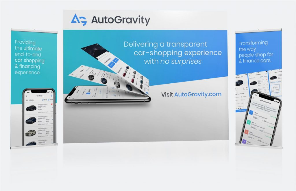 Tradeshow Exhibit banner and lightbox booth design