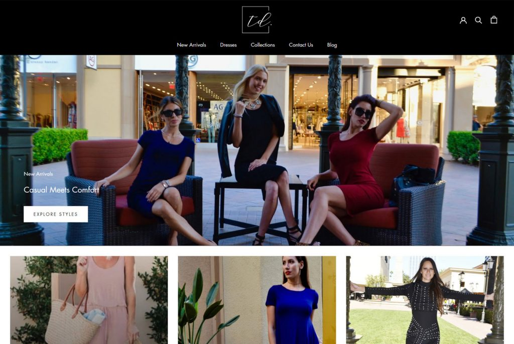 shopify ecommerce web design newport coast affordable fashion