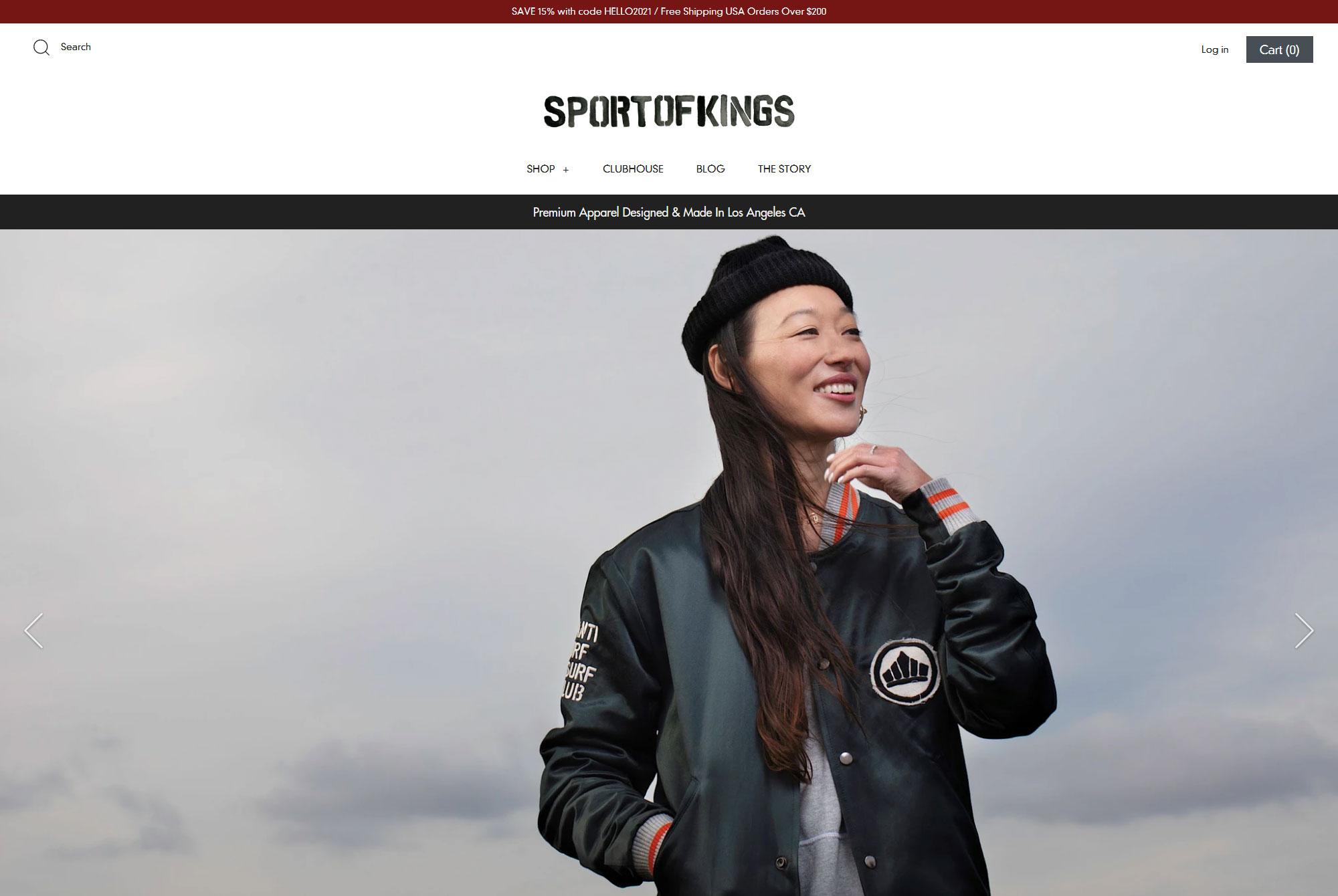 newport beach fashion apparel ecommerce shpoify website development preview