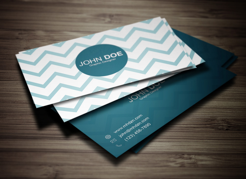 Chevron Business Card - MagicHat Web Design