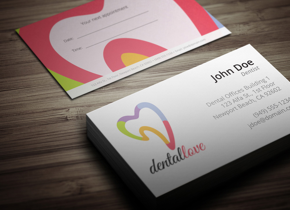 Dental appointment cards templates arts arts dental business cards design arts wajeb Gallery